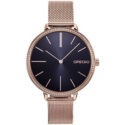 GREGIO Alisa Crystals Rose Gold Stainless Steel Bracelet GR200031