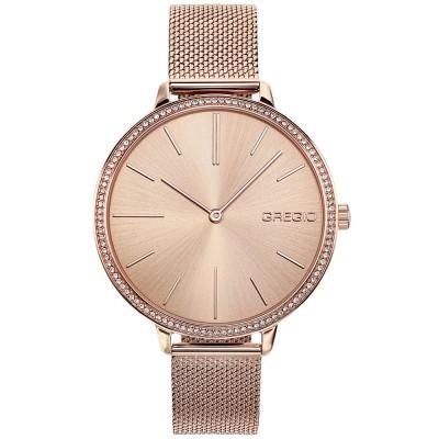 GREGIO Alisa Crystals Rose Gold Stainless Steel Bracelet GR200030